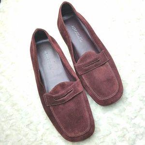 Aerosoles Maroon Suede Loafers Sz 9.5